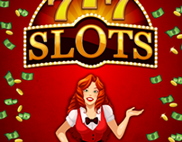 777 Slots Character Design and Marketing Material