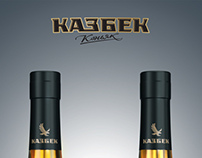 "Russian brandy ""Kazbek""."