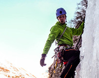 Video editing of iceclimbing footage