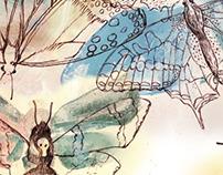 Aquarelle all-over prints