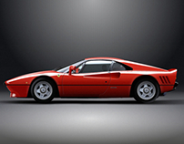 Ferrari 288 GTO Vector Illustration