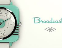 Fossil Broadcaster Watch