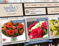 Webdesign Concept Sandra´s Florist