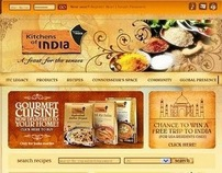 Kitchens of India - Website