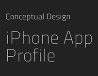 iPhone App - Profile