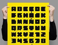 Bloquer Modular typeface