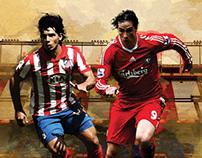 Liverpool FC Bullfighting posters