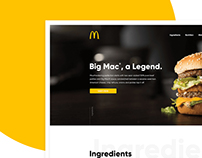 McDonald's - Big Mac - Landing page - Design concept