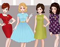 Ladies from Mad Men
