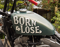 BORN TO LOSE • LETTERING