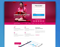 Dribbble Exclusive Giveaway! - Landing Page Template