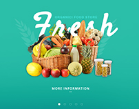 fresh food store web page