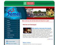 Site: Secretaria de Esporte e Lazer de São Gonçalo