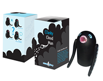 Cranky Cloud Man, Toy, Package & Typeface Design