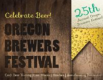 Oregon Brewers Festival Postcard Design