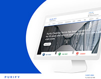 Purify Cleaning Service Website