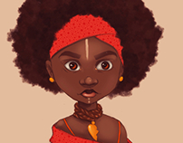 Little Red Afro Girl