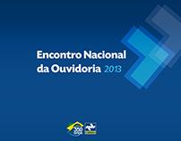 Encontro Nacional da Ouvidoria - 2013