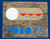 Poboys Stencil t-shirt design