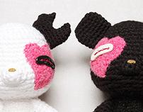 MOJU 黑白配 2013 情人節限定/ MOJU Knitting Dolls