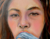oil painting series The Moments  : II