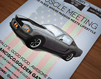 Oldtimer car poster / flyer II