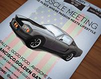 Oldtimer car poster / flyer II