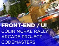 Colin McRae Rally arcade game, Front End design (2005)