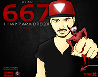 Gjiko - 667 1 Hap Para Dreqit [Mixtape Cover]