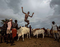 ceremony of bull jumping, hamer tribe