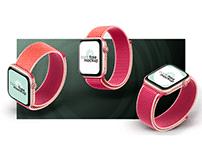 Free PSD Three views Apple Watch Series 5 Mockup