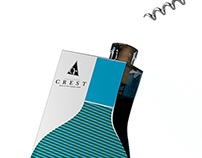 Crest - Cardboard wine bottle