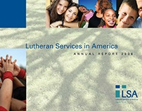 Annual Report design for Lutheran Services in America