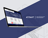 Website for Atlant - the construction bureau.