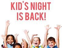 Chik-Fil-A Kid's night poster