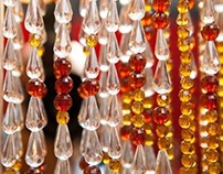 """Champagne Brown Acrylic Crystal"" Bead Curtain"