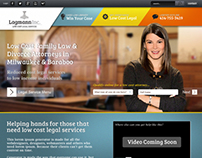 Home page design for parallax/jQuery site for client