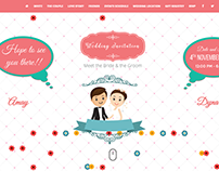 Creative one page wedding invitation website