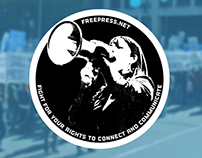 Freepress Anniversary Sticker