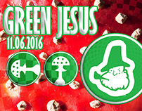 Green Jesus - party banner