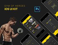 Gym of Heroes - iOS UI Kit