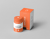 Supplement Jar & Box Mock-Up 10