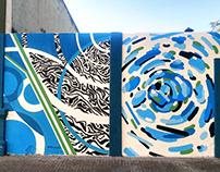 Mural Políptico junto a El Lolo