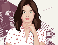 Selena Gomez Vector Art