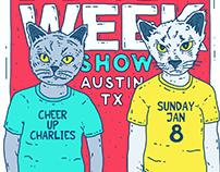 Austin, TX FREE WEEK Gig Poster