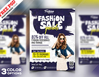 Season Sale Flyer Design Psd Bundle