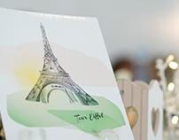 Wedding Stationary - Paris Love