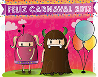 Happy carnival. illustration