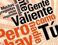 Afiche tipográfico: No hay nadie como tú - Calle 13