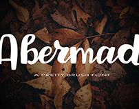 Abermad - pretty brush font